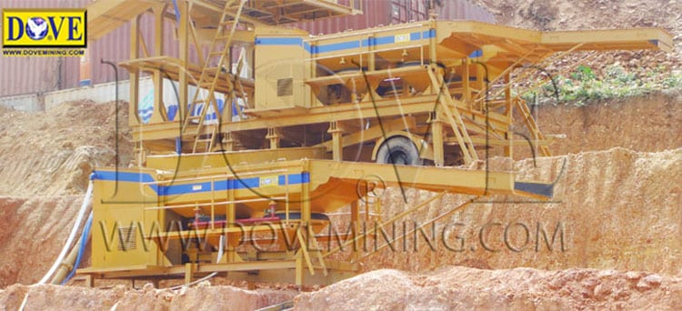 DOVE Jig Concentrator. mining site