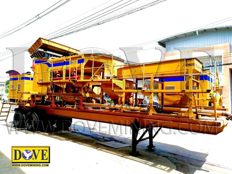 DOVE Speedminer portable plant, hard rock mining equipment
