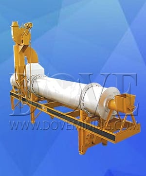 dual flow rotary dryer
