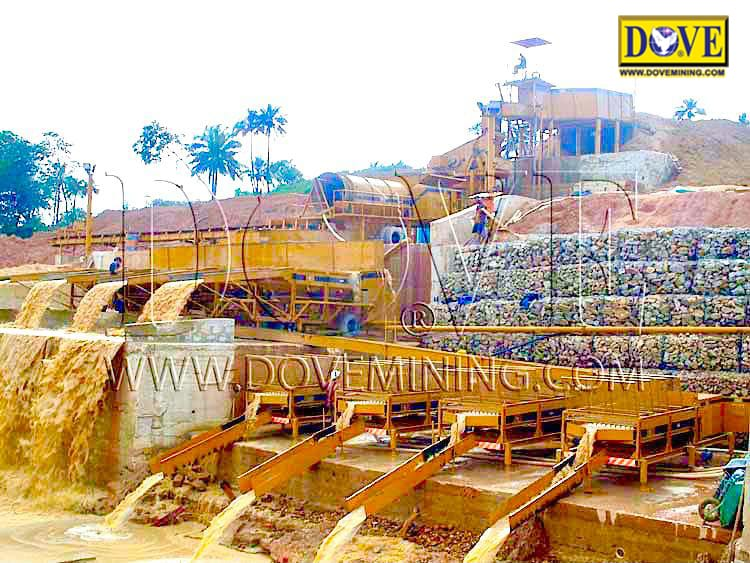 Gold mining equipment, Megaminer alluvial mining plant