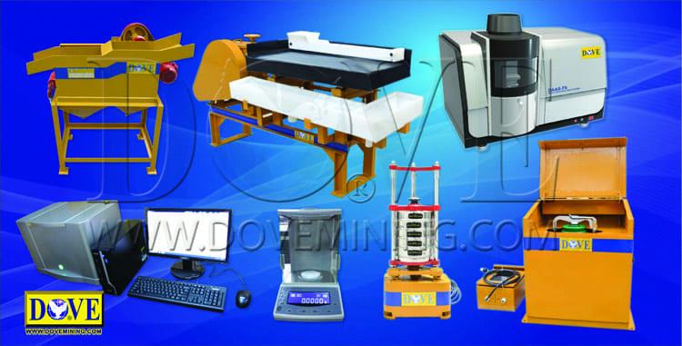 DOVE Mineral assay laboratory equipment
