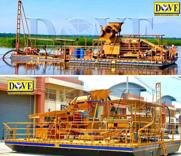 Riverminer dredge and floating plant