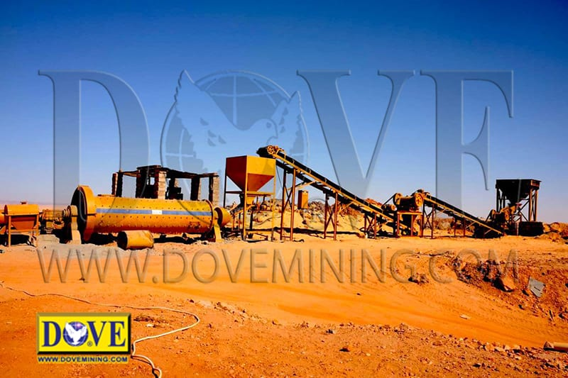 Gold mining equipment, crushing plant, including ball mill, jaw crusher, cone crusher