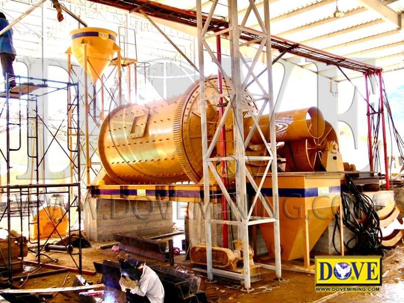 DOVE ball mill hard rock gold mining equipment