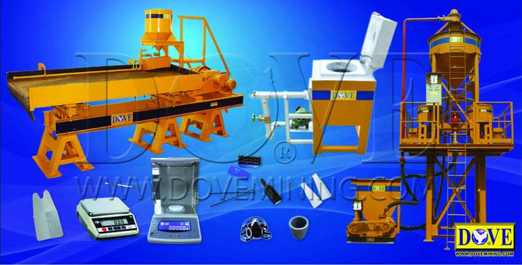 DOVE gold room equipment
