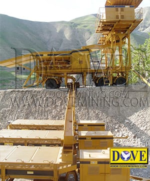 DOVE Portable Gold and Diamond wash plant