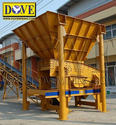 Feed Hopper at DOVE Factory