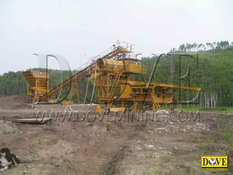 SUPERMINER Portable Wash plant supplied to Mongolia