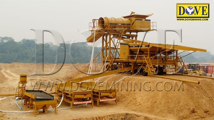 SUPERMINER Portable wash plant mining site