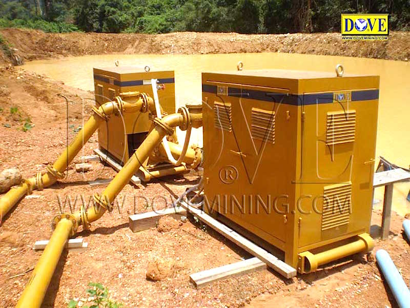 Alluvial mining project in Indonesia 2009
