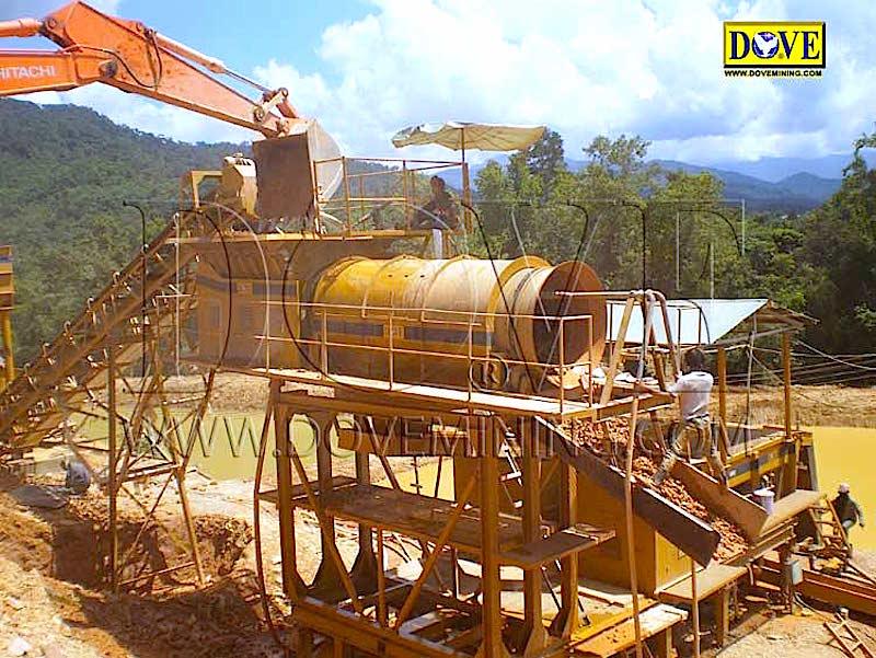 DOVE Trommel Alluvial mining in Indonesia 2009
