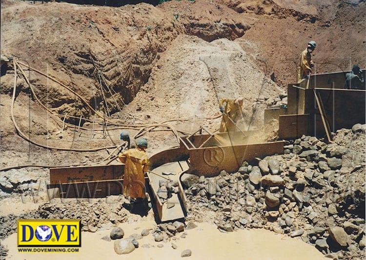 DOVE gemstone mining equipment in Madagascar