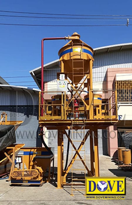 Gold concentrator for fine gold recovery