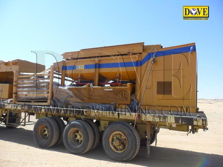 Alluvial gold mining equipment