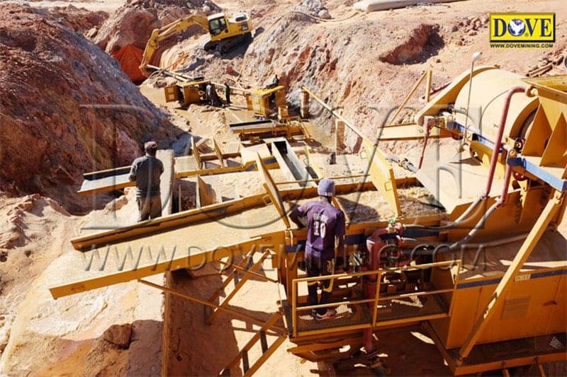 DOVE equipment for hard rock mining in Sudan