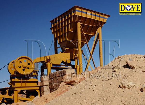 DOVE Jaw Crusher at the mining site